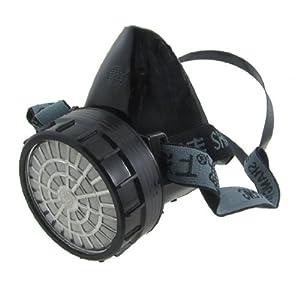 Adjustable Strap Single Cartridge Filter Half Face Mask Respirator ...