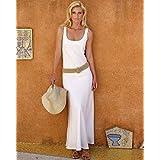 Linen white sheath dress