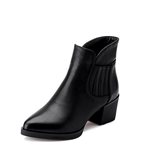 voguezone009-womens-pointed-closed-toe-low-top-kitten-heels-solid-pu-boots-black-35