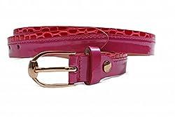 Just Women Layered Fuschisa Pink Skinny Belt