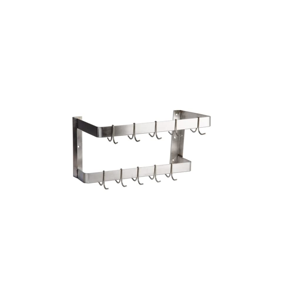 Wall Mounted Commercial Stainless Steel Pot Rack   24