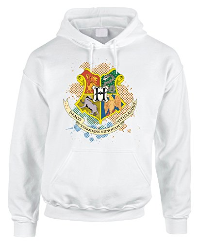Felpa con cappuccio Harry Potter Hogwarts Houses - in cotone by Fashwork
