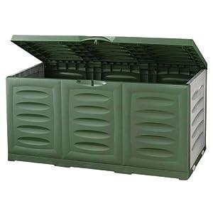 kissenbox auflagenbox gartenbox 360l 120x50x60cm kunststoff gr n garten. Black Bedroom Furniture Sets. Home Design Ideas