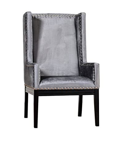 TOV Furniture Tribeca Velvet Chair, Grey