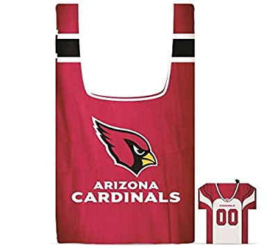 NFL Arizona Cardinals Eco Friendly Reusable Grocery Bags with Jersey Style Storage Pouch