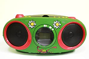 Teenage Mutant Ninja Turtles Boombox CD Player with Text Display, AM/FM Stereo Radio, Repeat Function