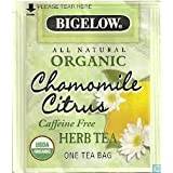 Bigelow Organic Chamomile Citrus Caffeine Free Herb Tea (60 tea bags) 2.74 OZ by Bigelow Tea