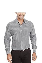 Boonplush-Men's - formal shirt (Dark grey)-38