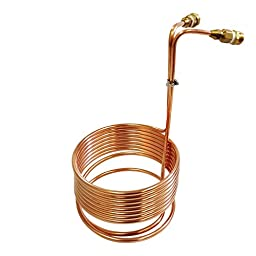 NY Brew Supply Wort Chiller with Garden Hose Fittings, 3/8\