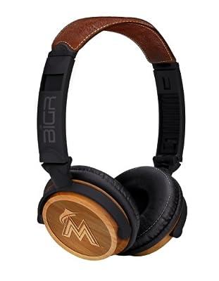 BiGR Audio Natural Wood Finish Headphones for Smartphones