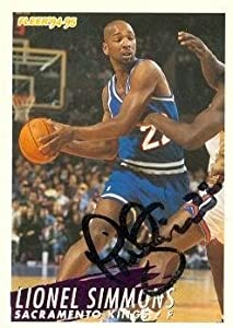 Lionel Simmons Autographed Hand Signed Basketball Card (Sacramento Kings) 1994 Fleer... by Hall of Fame Memorabilia