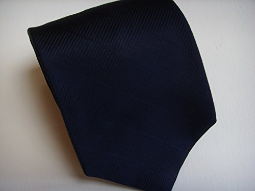 Navy Blue Solid Tie Mens Clothing Collectible Neckwear Necktie