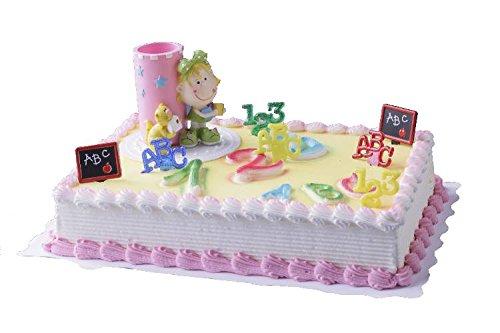 cake company torten figur schulanfang stiftbecher m dchen 5 teilig torten deko set mit 2. Black Bedroom Furniture Sets. Home Design Ideas