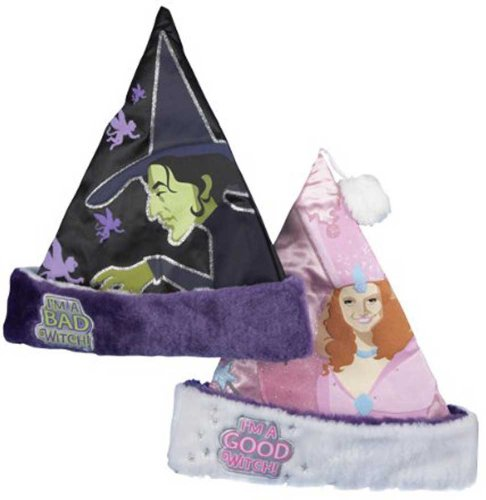 Wizard of Oz Reversible Good Witch, Bad Witch Santa Hat