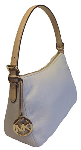 Michael Kors Jet Set Item Leather Small Shoulder Bag White Vanilla Nwt