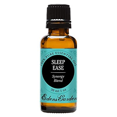 Sleep Ease Synergy Blend Essential Oil by Edens Garden- 30 ml (Camphor, Chamomile, Coriander, Geranium, Jasmine, Lavender, Lemon, Rose, Rosewood, Palmarosa and Ylang Ylang)