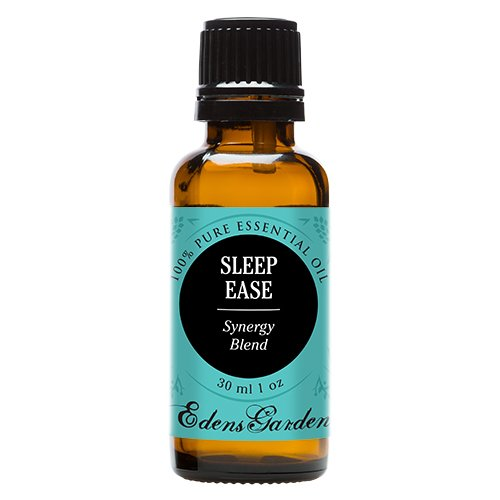 Sleep Ease Synergy Blend Essential Oil by Edens Garden- 30 ml (Camphor, Chamomile, Coriander, Geranium, Jasmine, Lavender, Lemon, Rose, Rosewood, Palmarosa and Ylang Ylang)