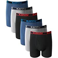6-Pack Kayizu Men's Soft Cotton Boxer Brief