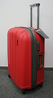 "Luggage X - Set of 3 Lightweight Hard Shell Red Trolley Suitcases 30"" + 26"" + 22"" - NEXT DAY DELIVERY*"
