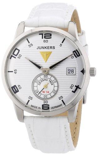 Junkers Women's Quartz Watch Wellblech Flatline Lady Ronda6004 63355 with Leather Strap