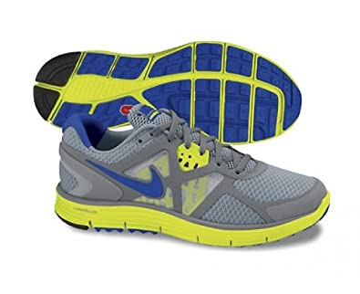 Nike Lunarglide+ 3 Womens Running Shoes [454315-004] Stealth/Treasure Blue-Cool Grey-High Voltage Womes Shoes 454315-004-8.5