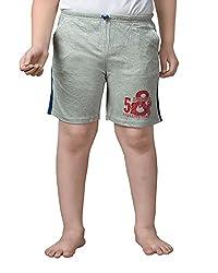 Punkster Royal Blue Cotton Shorts For Boys