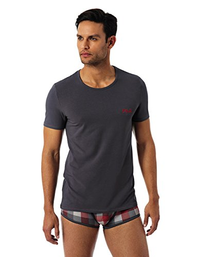FILA - T-shirt stretch cotton - KILIMANGIARO - XL, Grigio Antracite