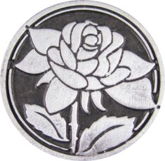 Rose Love 1 Cor. 13:4-8 Pocket Pewter Coin