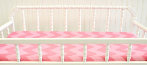 New Arrivals Changing Pad Cover, Zig Zag Tangerine