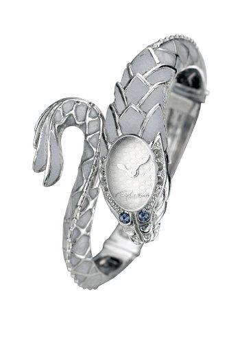 Roberto Cavalli 'Eva Snake' 7253126015 - Reloj de mujer de cuarzo, correa de acero inoxidable color plata