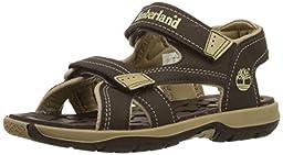 Timberland Mad River 2-Strap Sandal (Toddler/Little Kid/Big Kid),Dark Brown/Tan,4 M US Toddler