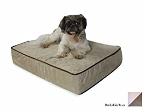 Snoozer Outlast Dog Bed Sleep System 3-Inch Thick, Large, Buckskin/Java
