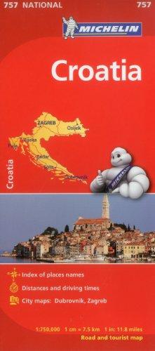Michelin Croatia Map 757 (Maps/Country (Michelin))