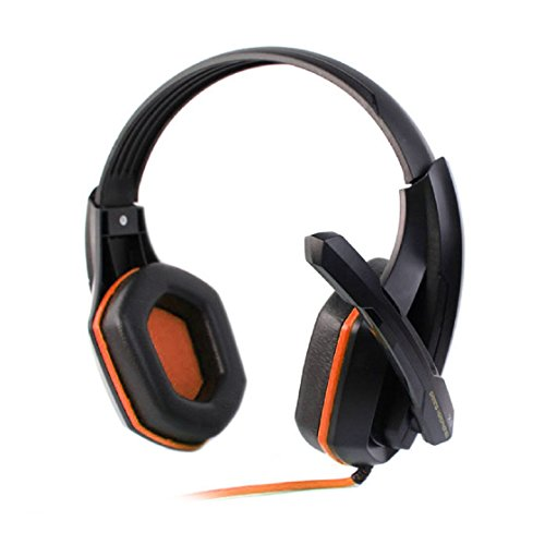 Doinshop Fashion New Pro Stereo Gaming Headset With Microphone For Pc Laptop Computer (Orange)