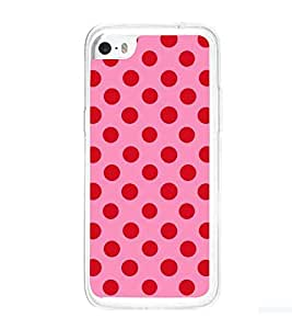 Printvisa Pink And Red Polka Dot Patterns Back Case Cover for Apple iPhone 5C
