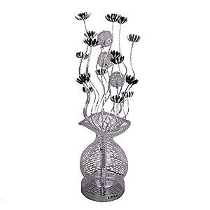 Modern Silver Aluminium Metal Vase Flowers Design Floor Lamp by MiniSun