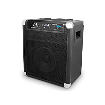 ION Block Rocker Bluetooth Portable Speaker System with Auxiliary USB Charger