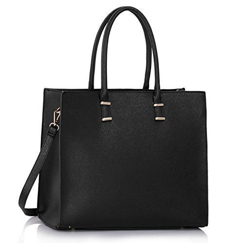 Ladies Faux Leather Handbag New Tote Designer Style Celebrity Shoulder Bag