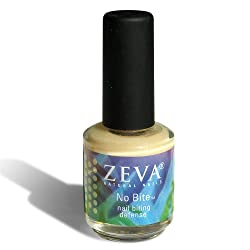 Zeva No Bite - Stop Nail Biting Formula - Nail Treatment Polish - .5 Fl Oz / 15 Ml. (Includes Zeva Buffing File to Smooth Nails and Significantly Reduce the Urge to Bite) Made in USA