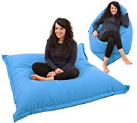 RAVIOLI GIANT - AQUA BLUE Bean Bag Chair Indoor / Outdoor Beanbag Floor Cushion ... from Gilda Ltd