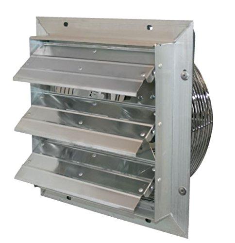 J&D Manufacturing VES161C ES Aluminum Shutter Fan, 16