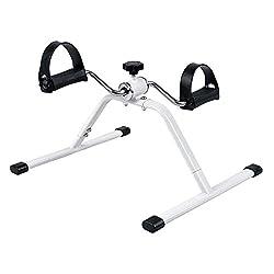 Kobo Pedal Exercise Mini Bike / Cycle Aid With Adjustable Resistance Ab Care King Toner (White)