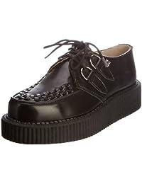 TUK A6802 Mondo Hi Black Black Leather New Mens Creepers Shoes Boots