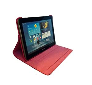 Tourner Tournante Etui-housse en cuir pour Samsung Galaxy Tab 2 P5110 - (cerise rouge)