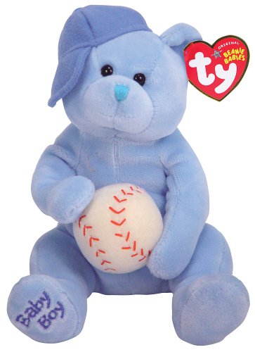 Ty Baby Boy - Bear with Hat and Ball - 1