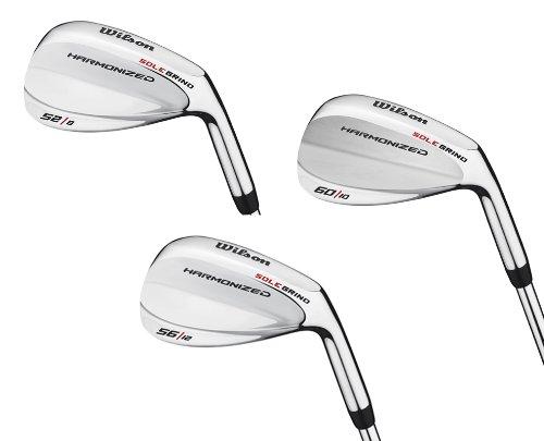 Wilson 52°, 56° & 60° Men's RH Harmonized Silver Chrome Wedge Golf Club Set