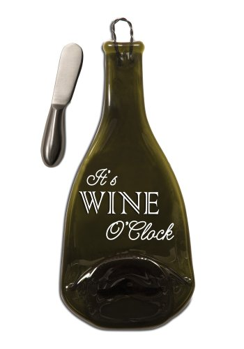 Pavilion Gift Company 22029 Wine All The Time Wine and Cheese Tray with Spreader, 12-Inch, It's Wine O'Clock (Wine Themed Tray compare prices)