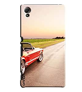 Omnam Car Heading Towards Road With Silver Alloys Designer Back Cover Case For Sony Xperia Z4