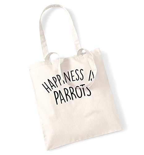 happiness-is-parrots-tote-bag