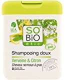 So'Bio Étic Shampooing Doux Verveine et Citron 250 ml Lot de 3